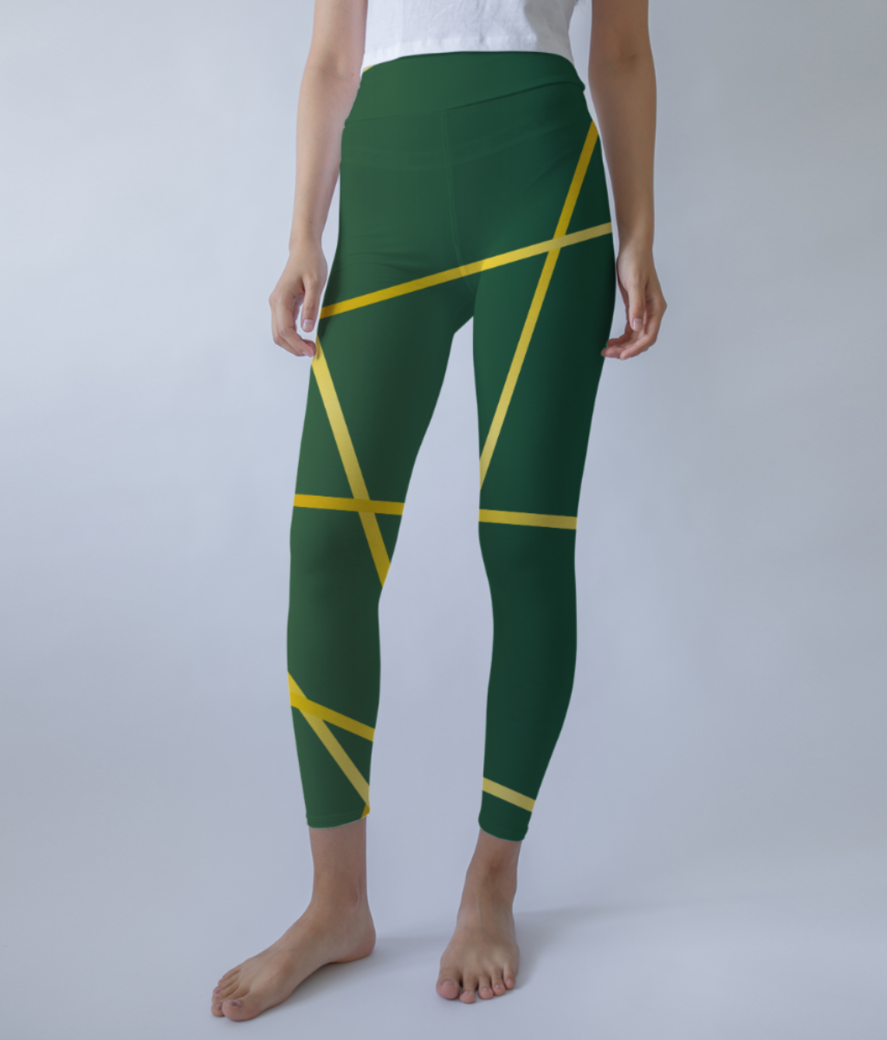 Abstract lines 2 leggings front