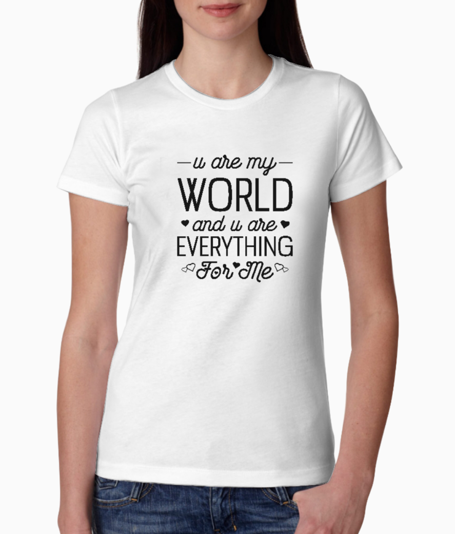 Everything for me tee front