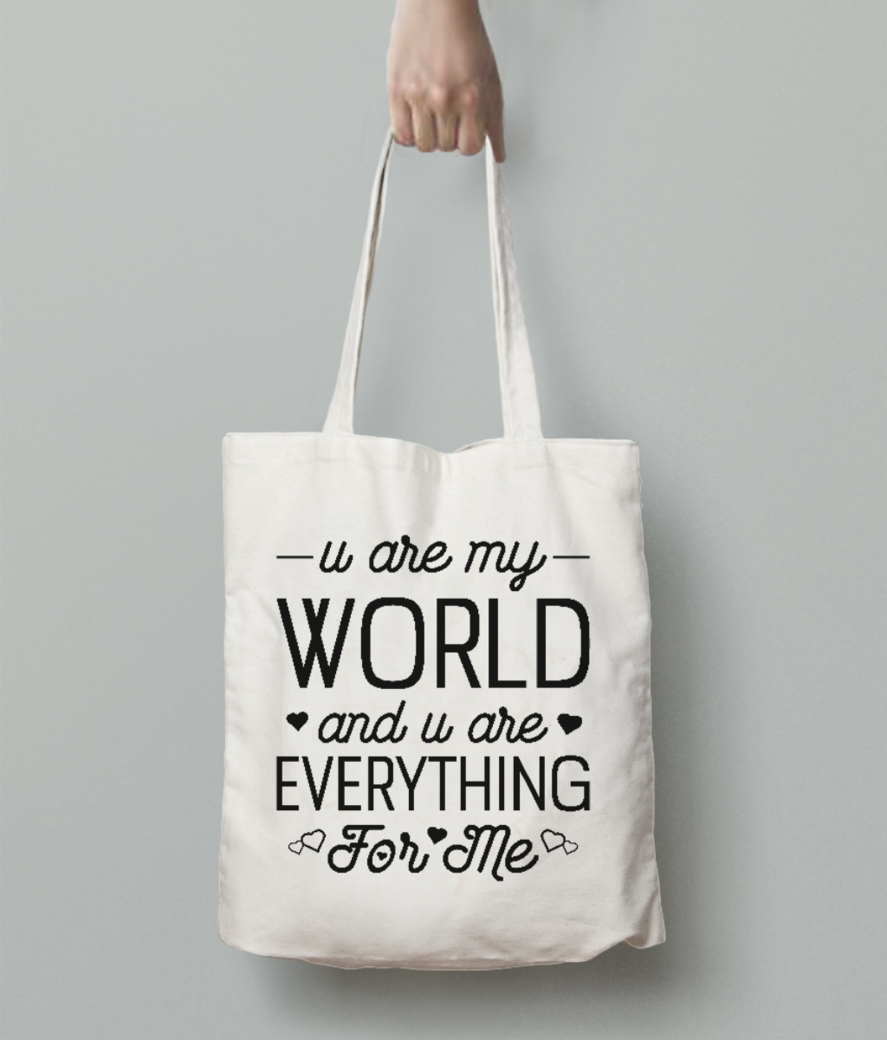Everything for me tote bag back