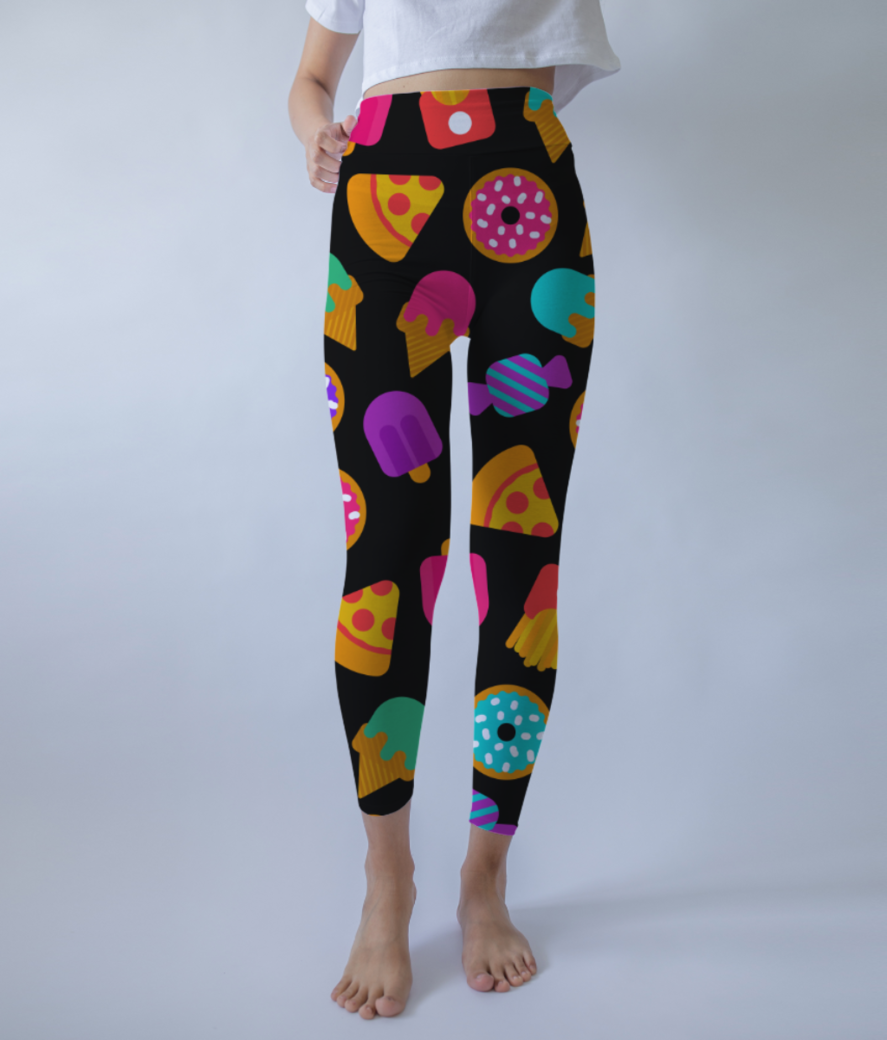 Food love 3 leggings front