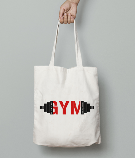 Gym tote bag front