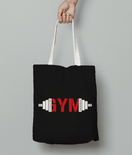 Gym life tote bag front