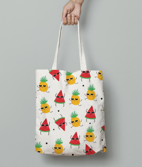 Pine water love tote bag front