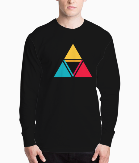 Colorful triangles henley front