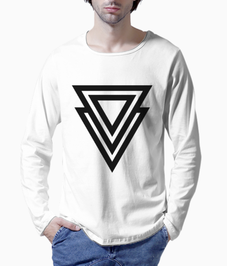2 line triangle henley front