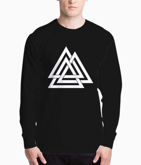 3 line triangle henley front