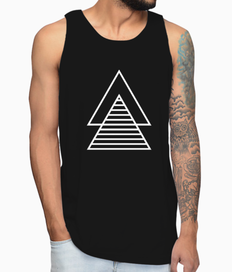 Vector double triangle vest front
