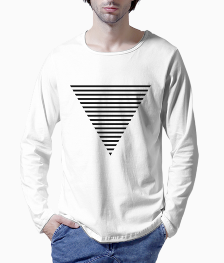 Triangle striped henley front