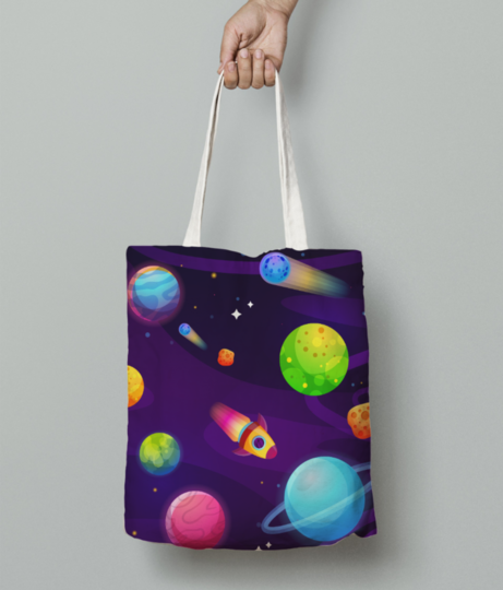 Space buddy tote bag front