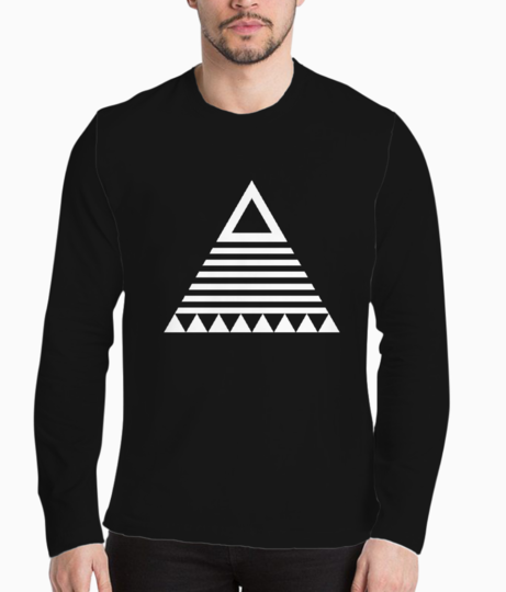 Triangle tribal henley front