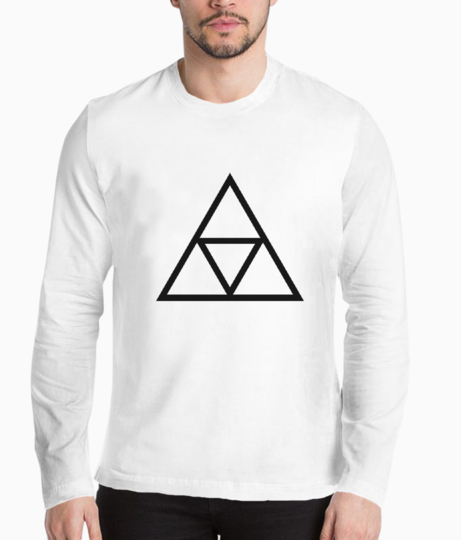 Triple triangle henley front