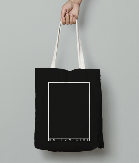 Line bottom tote bag front