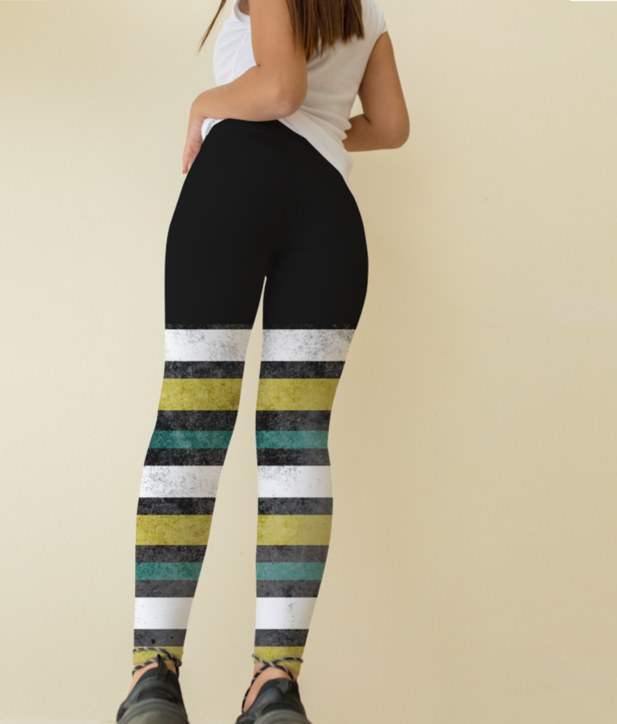 Grunge stripes leggings back