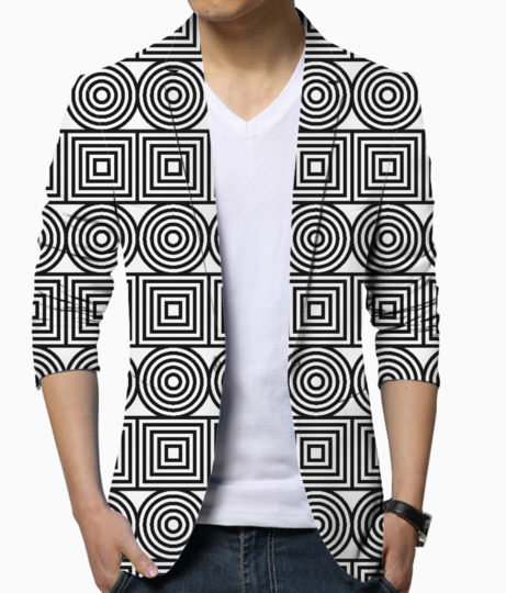 Circles and squares blazer front