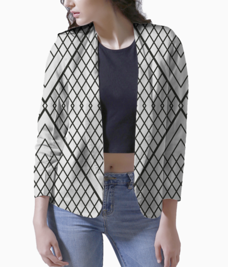 Triangle lines blazer front