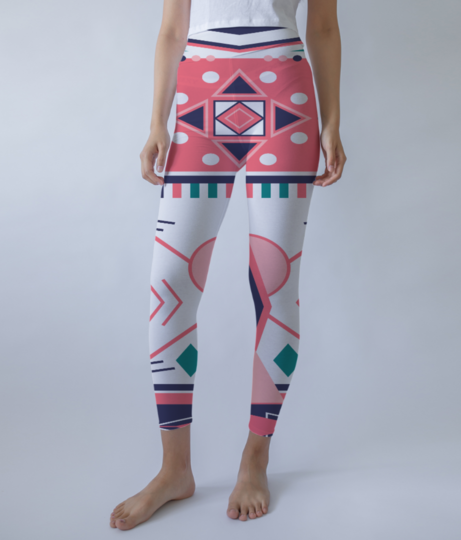 Tribal design 1 leggings front