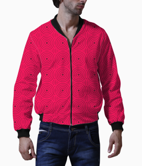 Retro rounded lines bomber front