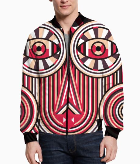 Abstract ancient bomber front