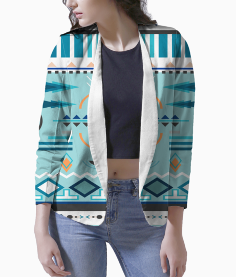 Tribal design 3 blazer front