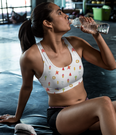 Food sports bra front