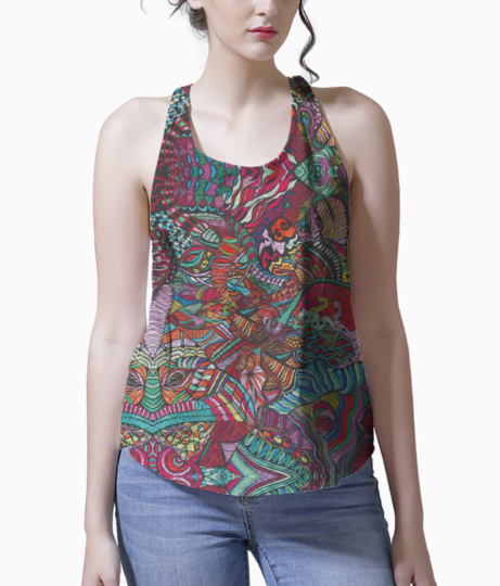 Abstract kaleidescope 2 tank front