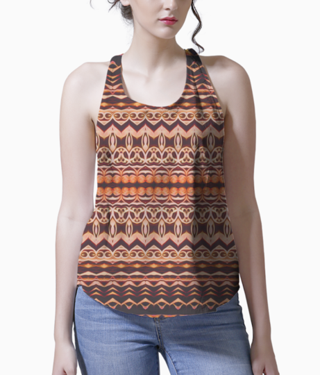 Brown frown tank front
