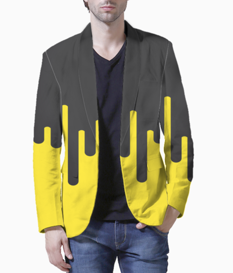 Lemon ice melting ice cream blazer front