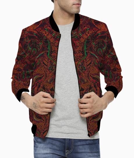 Abstract firered evolve bomber front