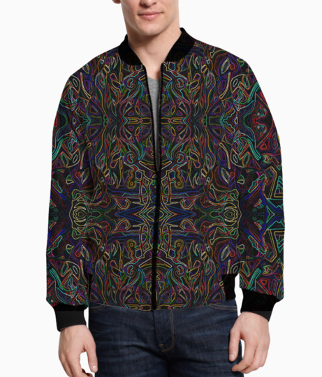 Abstraction colours3s bomber front
