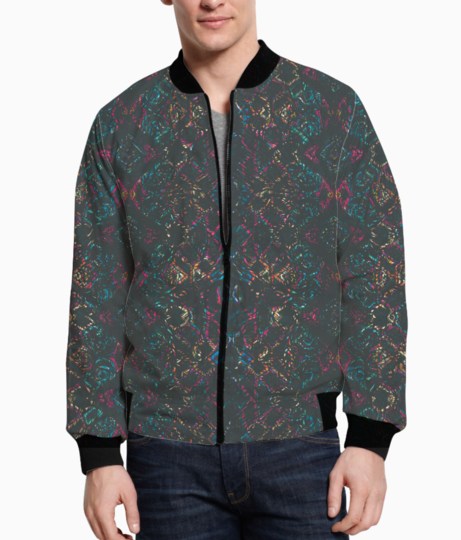 Pink shadows bomber front
