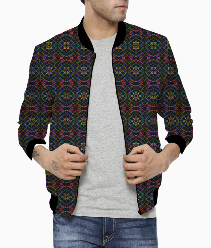 Purple spark bomber front