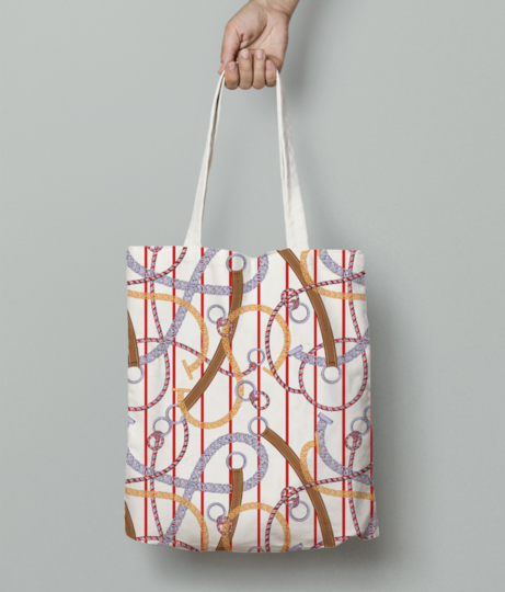Inuit tote bag front
