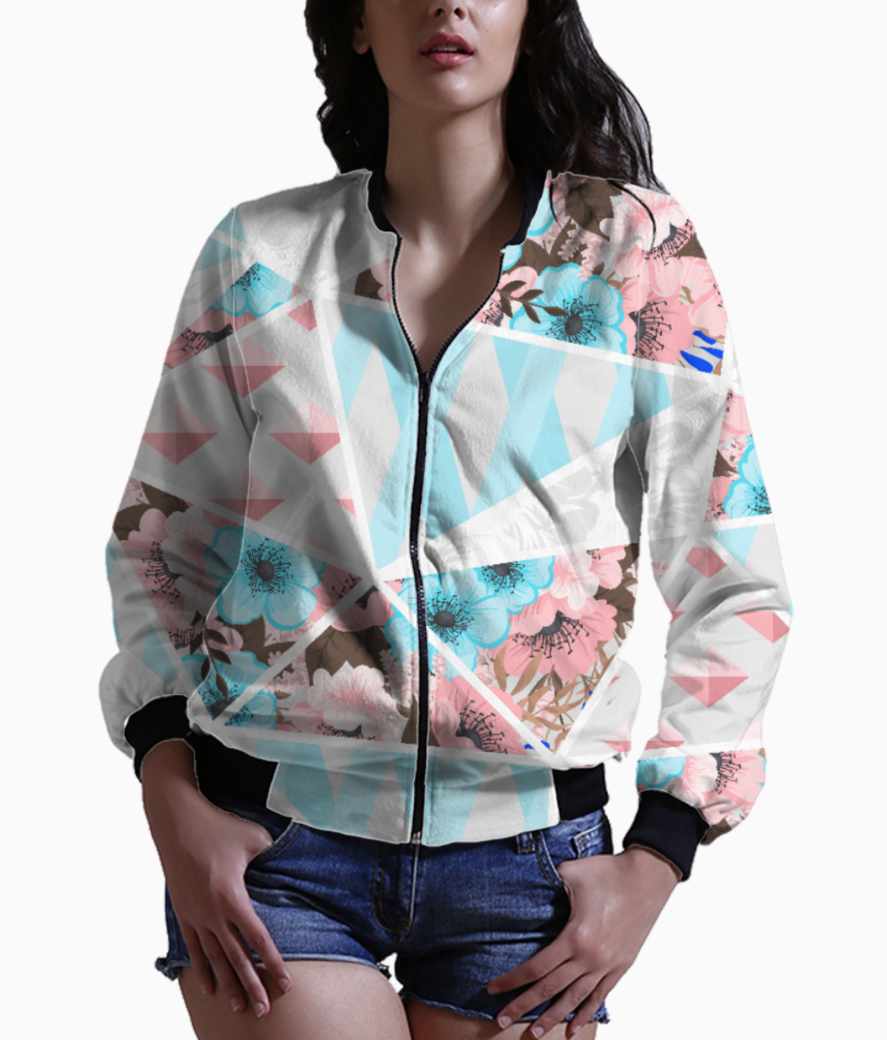 Abstract patchwork 2 bomber front