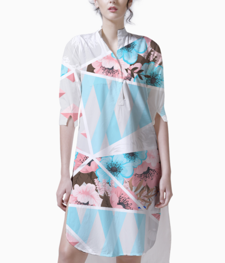 Abstract patchwork 2 kurti front