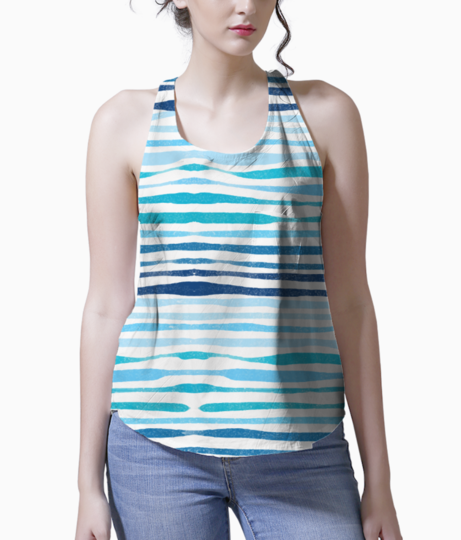 Blue waves tank front