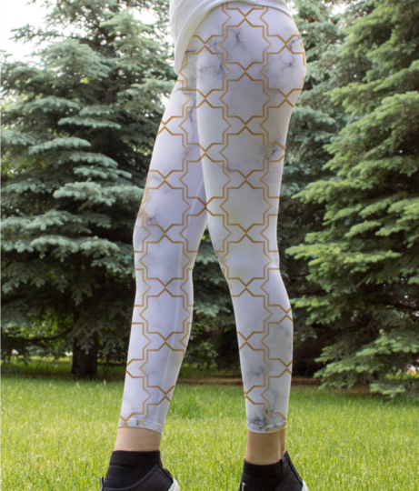 Art deco art  9 leggings front