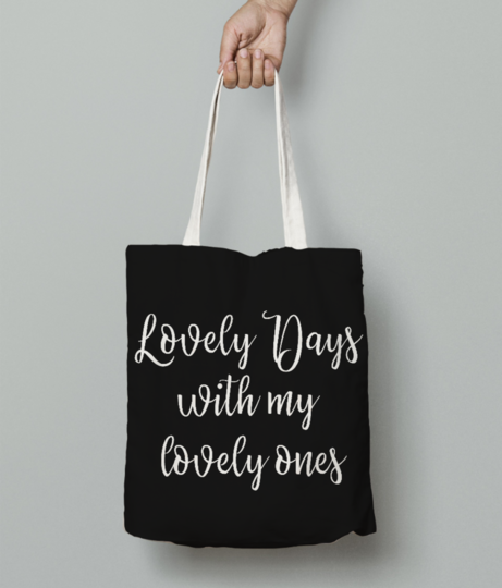 Lovely days with my lovely ones  white 01 tote bag front