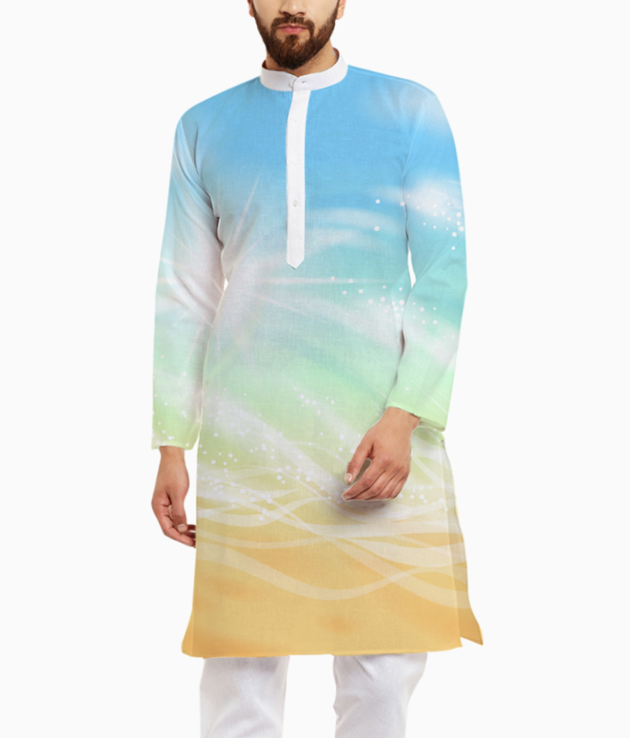 Sea shades kurta front