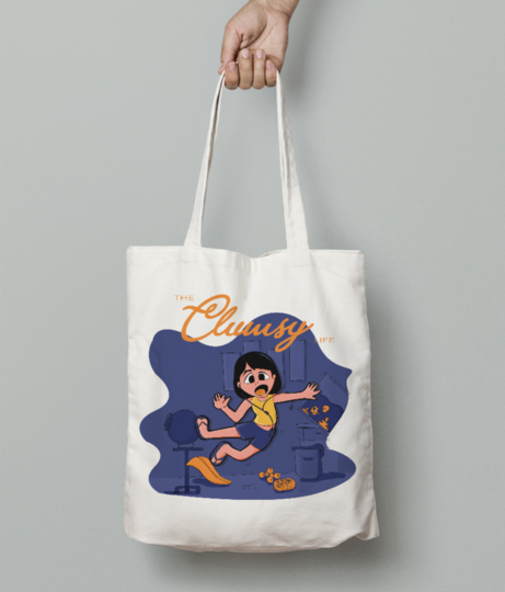 Breakable 3 tote bag front