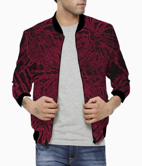 Wither red bomber front