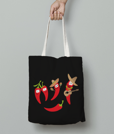 Hot chillies tote bag front