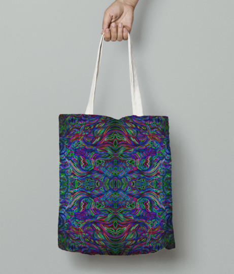 Abstract shadow tote bag front