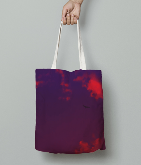 Fly high tote bag front