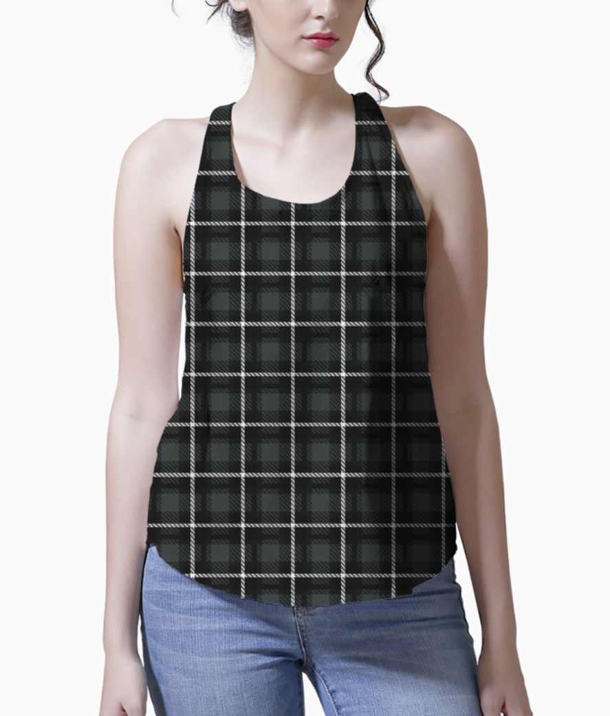 Shadow scottish tartan tank front