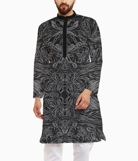 Abstract flow %282%29 kurta front