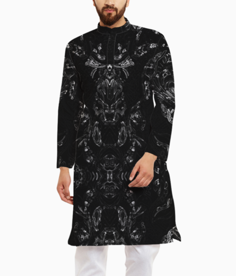 Abstract imprints kurta front