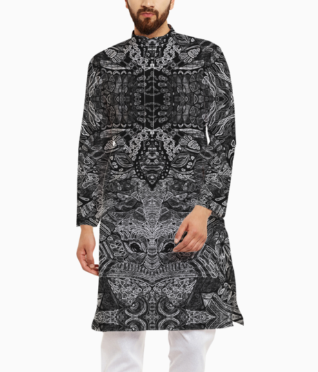 Abstract kaleidescope 2 kurta front