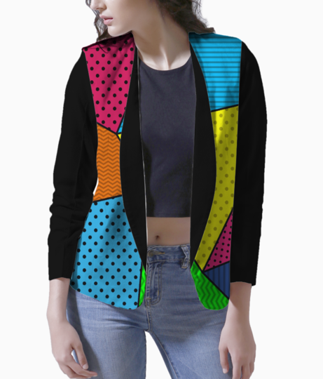 Abstract pattern blazer front