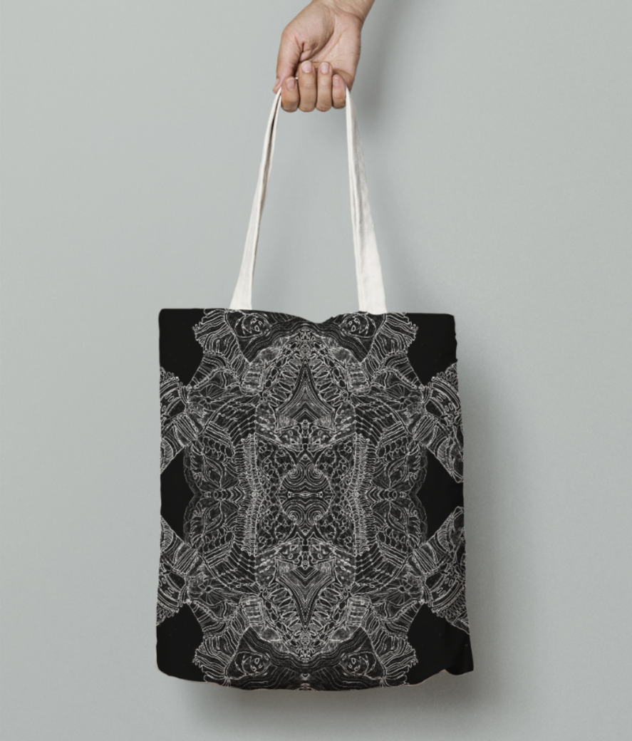 Abstract dance tote bag front
