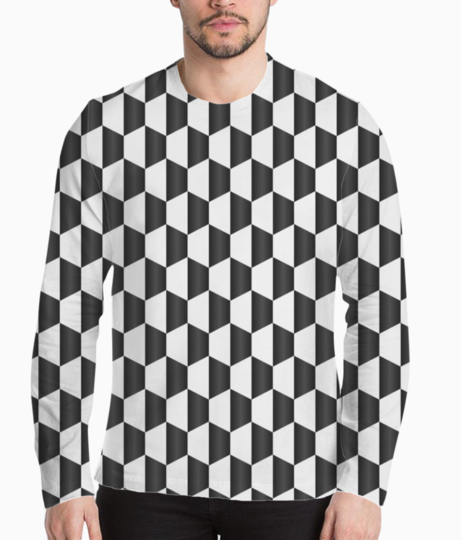 Blacky cubes henley front